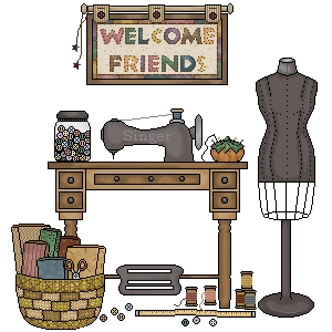 Welcome Friends Sewing Room (2)